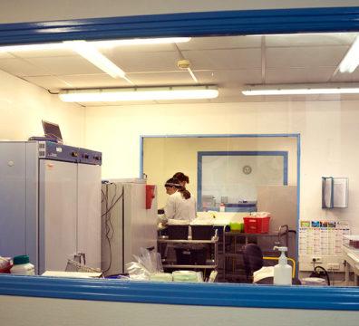 Salles d'analyses microbiologiques du laboratoire B&A